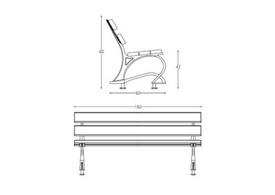 Panchina PN 007 (disegno)