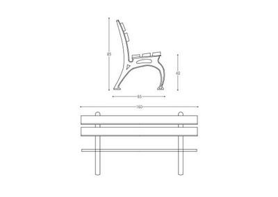 Panchina PN 012 (disegno)