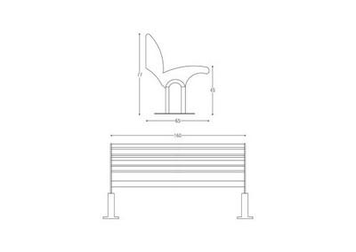 Panchina PN 017 (disegno)