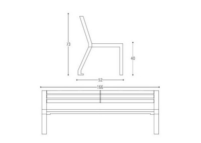 Panchina PN 018 (disegno)