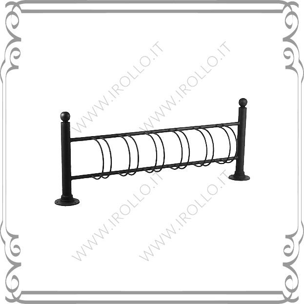 Portabiciclette con doppio paletto con falange pb004 for Alfredo irollo arredo urbano e illuminazione