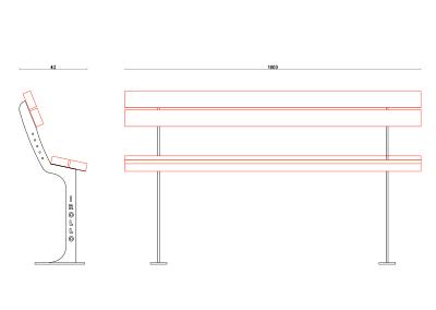 Panchina PN 011 (disegno)