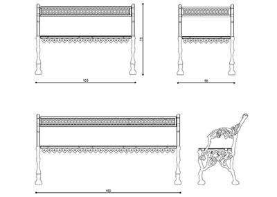 Panchina PN 001 (disegno)